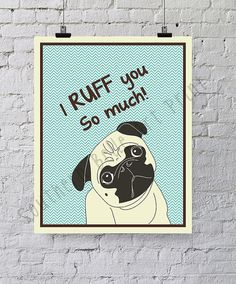 I ruff you so much/Dog Art PrintChildren's by SouthernSassArt, $12.00