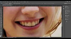 Como clarear dentes (sponge tool) - Photoshop