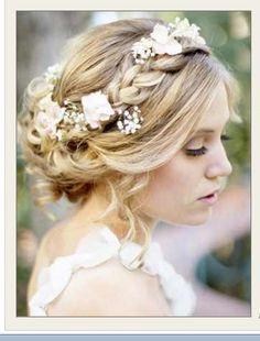 Braided flower tiara