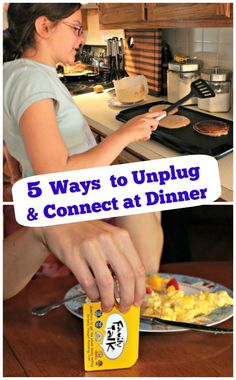 Fun ways to turn dinner time into a way to connect with those around the table!  #Disconnect2Reconnect #MC #sponsored
