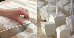 How to Make Marshmallows That Are So Healthy You Can Eat as Many as You Want Marshmallows are regarded as a staple for Thanksgiving classics, camping trips, desserts, and hot cocoa. Although this food is f. How To Make Marshmallows, Recipes With Marshmallows, Homemade Marshmallows, Köstliche Desserts, Gluten Free Desserts, Toasted Marshmallow, Yummy Treats, Sweet Treats, Recipes