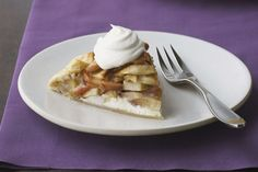 Somewhere between a tart and a pie—and right smack in the middle of delicious. Fresh apples layer over a cream cheese filling and bake up with sugar and spice…so nice.