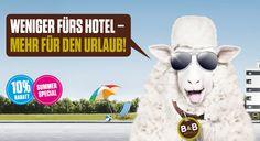 Weniger fürs Hotel - mehr für den Urlaub! 10% #Rabatt auf Übernachtungen vom 01.07.-31.08.2016 (Fr.-So.). Ausschließlich über hotelbb.de buchbar.