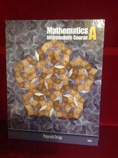 ACSI Purposeful Design Math A Student Book,  Gr 7, VG,  Homeschool or School #Textbook