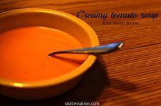 creamy tomato soup via @Karin H Sluiter