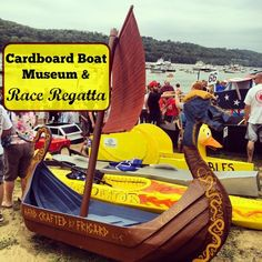 Cardboard Boat Museum and Race Regatta in New Richmond, Ohio(My dad made the viking ship! Cardboard Boat Race, Kids Boat, New Richmond, Summer Camp Activities, Whitewater Kayaking, Canoeing, Duck Boat, Boat Design, Yacht Design