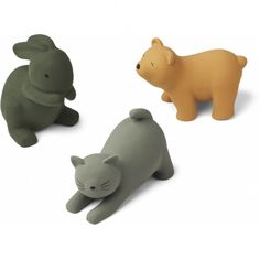 Badleksak 3-pack från Liewood / miniroom.se Natural Toys, Natural Latex, Natural Rubber, Baby Spiegel, Birth Colors, Mini Turtles, David, Bath Toys, Toys
