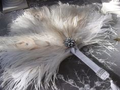 Items similar to Gatsby peacock and ostrich feather fan in your choice of sizes on Etsy Great Gatsby Themed Wedding, Great Gatsby Wedding, 1920s Wedding, Our Wedding, Wedding Rings, Unique Wedding Colors, Unique Weddings, Roaring 20s, Wedding Bouquets