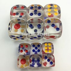 10pc 18mm/12mm Transparent Gambling Dice For ktv,bar,Entertainment Accessories Clear Dice for Board Game Marble Games, Dice, Board Games, Perfume Bottles, Entertaining, Drinking Games, Amazon Products, Marbles, Chess