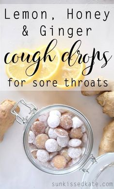 Lemon, Honey and Ginger Cough Drops. For those not wanting to succumb to the store bought brands of cold medicine but need some kind of relief from a cough and sore throat, there's an alternative that you can make at home! This homemade project won't promise to numb your throat or take away your cough in 20 minutes, but it might just relieve some of the discomfort and symptoms (and it tastes great too!) so it's worth a shot.