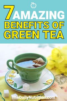 Green tea is a popular drink that people drink all over the world. The benefits of green tea go beyond the fact that it tastes amazing. Here you'll find 7 benefits of green tea that will significantly increase your health. Losing Belly Fat Diet, Lose Belly Fat, What Is Green Tea, Rosemary Tea, Stop Drinking Alcohol, Green Tea Smoothie, Green Tea Recipes, Green Tea Benefits, How To Make Greens