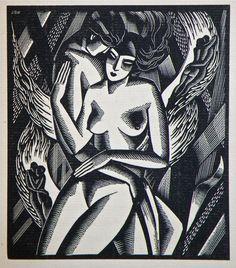 The Collected Sonnets of John Keats, Halcyon 1930 // illustrator: John Buckland Wright