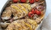 Baked Fish With Fennel & Cherry Tomatoes-This is a wonderfully aromatic dish that is sure to appeal to everyone's senses.  #fish #recipe
