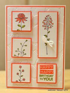 JanB Handmade Cards Atelier: Flowering Fieldflowers and my Christmas Tree - SU - SAB