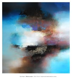 Eelco Maan, Wind on water, 105 x 110 cm, mixed media on canvas / Available for purchase at Studio Eelco Maan. Contact me on ejmaan@xs4all.nl