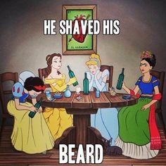 He Shaved His Beard. Sad story.