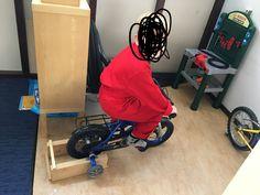 Home trainer gemaakt voor thema fietsen kleuters
