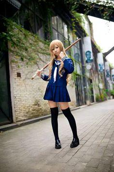 Aisaka Taiga from Taiga Cosplay, Anime Cosplay, Anime Conventions, Kawaii, Sexy Skirt, Manga Characters, Awesome Anime, Cool Costumes, Cosplay Girls