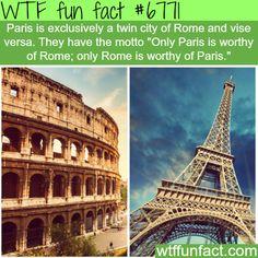 Paris and Rome - WTF fun fact