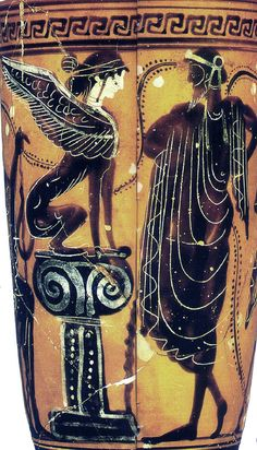 Oedipus solves the riddle of the sphinx Lekythos cent BCE) Paris Louvre CA 1705 Ancient Greek Art, Ancient Rome, Ancient Greece, Archaic Greece, Greek History, Ancient History, Homo Faber, Sphinx, Beast Creature