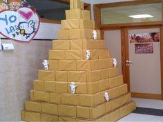 Resultado de imagen de como construir una piramide para niños