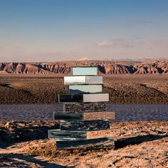 """Babel Tower by Shirin Abedinirad  """"The top view of the installation, by reflecting the sky, is connecting it to the earth, symbolising the aim of the Babel tower to reach for the heaven."""""""