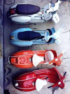 Vespa's. Classic Moped.Classic Car Art&Design @classic_car_art #ClassicCarArtDesign