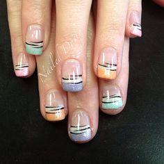 .@jvnaildesign | Cute pastel and zebra gel polish mani on @MaryDee Moore #nails #nailart #nailsw...