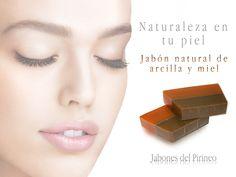 Jabón natural de arcilla y miel
