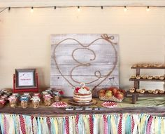 Head Table from a County Fair Themed Birthday Party via Kara's Party Ideas | The Place for All Things Party! KarasPartyIdeas.com (18)