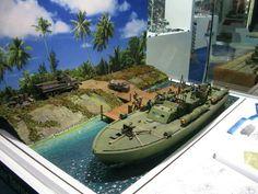 PT boat diorama