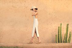 Dress : Misha Collection Shoes: Acne Hat: Lack of Color
