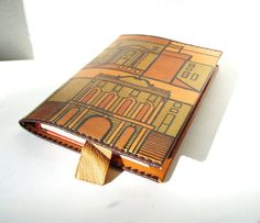 Leather Book Cover Vintage Unused Brown Large by MerilinsRetro, $25.00