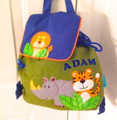 Quilted Zoo Backpack