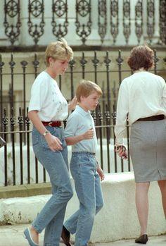 Princesė Diana su sūnumi princu Williamu