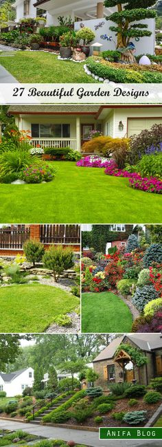 A Large, Welcoming Front Yard Landscape Plan | Dream Home ... on