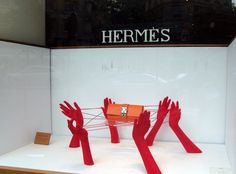 Window display at Hermès in Paris. Photo by alphacityguides.