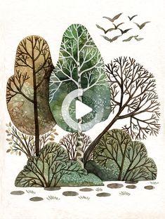 Illustrator Community | Forest illustration .. #drawing #illustration Forest Illustration, Botanical Illustration, Digital Illustration, Illustrators, Plant Leaves, Community, Drawings, Plants, Woodland Illustration
