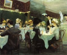 John French Sloan grew up in Philadelphia where he attended Central High School with fellow Ashcan painter William Glackens. American Realism, American Artists, Spring Rain, William Glackens, Georg Trakl, Ashcan School, Most Famous Artists, Illustration, Greenwich Village