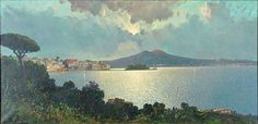 View of Naples by Ensel Salvi (20th Century)