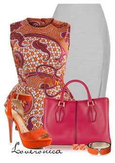 """""""Pink & Orange"""" by loveronica ❤ liked on Polyvore featuring L.K.Bennett, Tod's, Paris Hilton and Valextra"""