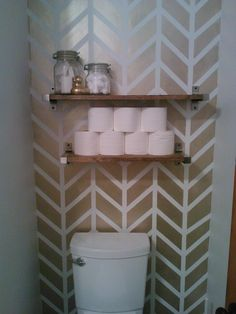 gold Chevron/herringbone accent wall, chevron wall, stripes, herringbone, diy