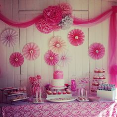 Princess party dessert bar