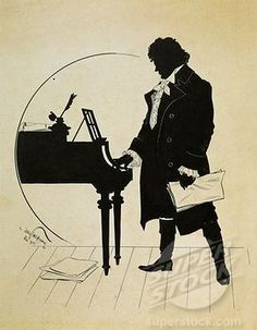 Austria, Vienna, Ludwig van #Beethoven at the #piano Silhouette