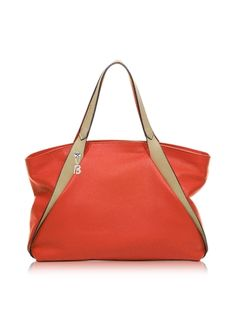 8db7a6c4ee Francesco Biasia Sorbonne Coral Red Leather Tote Red Leather