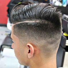 Fresh Fade Haircut - Mid Bald Fade with Hard Side Part Más Haircut Parts, Hard Part Haircut, Haircut And Color, Mens Hairstyles Fade, Hairstyles Haircuts, Haircuts For Men, Fresh Haircuts, Medium Fade Haircut, Fade Haircut Styles
