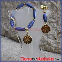 #pendientes y #pulseras con Cristal Checo y Medalla #mamá en #zamak con baño de oro. Los #pendientes de #lazo finos y elegantes. Ya sabes que tenemos todo lo que buscas para tus #creaciones en nuestra #tienda #bisutería #diy #CreaTuPropiaBisuteria  Visita https://www.tierradeabalorios.com/