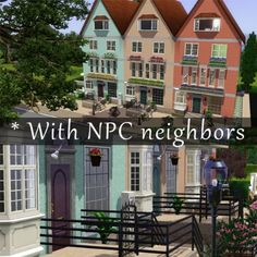 Update Coded For Npc Neighbors These Amsterdam Inspired Apartments Are Great A Young Family Contains 1 Cc Item Front Window By Thenecco