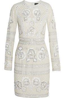 Needle & Thread Embellished georgette mini dress | NET-A-PORTER
