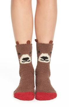 PJ Salvage 'Cozy Plush Bear' Socks available at #Nordstrom